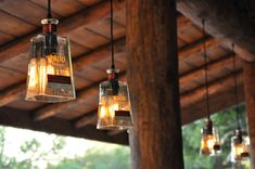 Recycled 1800 Tequila Bottle Pendant Lamp with old fashioned light bulb