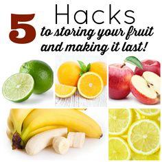 Easy tips for storing fruit and making it last longer.