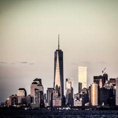 New York City Feelings - One World Trade Center at dusk by @r3din