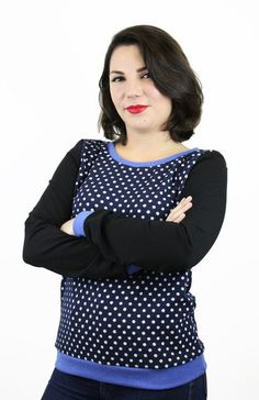 Sweatshirts - Pullover dunkelblau Punkte - ein Designerstück von JAQUEEN-handmade-streetwear-berlin bei DaWanda
