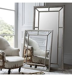 """Lawson Wide Frame Full Length Leaner Pewter Silver Wall Floor Mirror 62"""" x 31"""""""