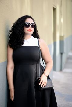 When I saw this dress, I immediately had to have it. Mostly because it's in my fave classic black and white color palette, but also because it reminds me o
