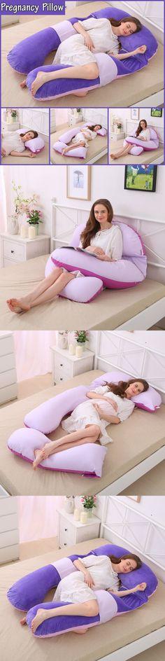 Pregnancy Maternity Pregnant Women Child Bearing Back Body Belly U Pillow Pink