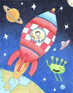 Ilustración infantil inspirada en mi sobrino Marco