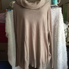 MODA INTERNATIONAL COWL NECK w/ Pockets Sweater Moda International (VS) Sweater...can be worn off shoulders, off one shoulder or cowl neck...pockets on side...this sweater can be worn dress up or down with a pair jeans... Moda International Sweaters Cowl & Turtlenecks