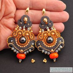 Inspiration earrings - soutache oooooh i would love to try and make something like these!
