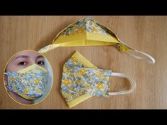 [NEW STYLE] DIY 2 Tone 3D Face Mask | Face Mask Sewing Tutorial - YouTube Small Sewing Projects, Sewing Projects For Beginners, Sewing Tutorials, Sewing Crafts, Sewing Patterns, Easy Face Masks, Homemade Face Masks, Diy Face Mask, Handmade Desks