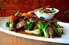 This orange beef dish has interesting, complex flavors. 5-spice powder and dried mandarin orange peel favors complement each other and the addition of dried red chili peppers gives it just enough heat it needs.