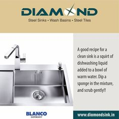 We've got a sure remedy for stained sinks !