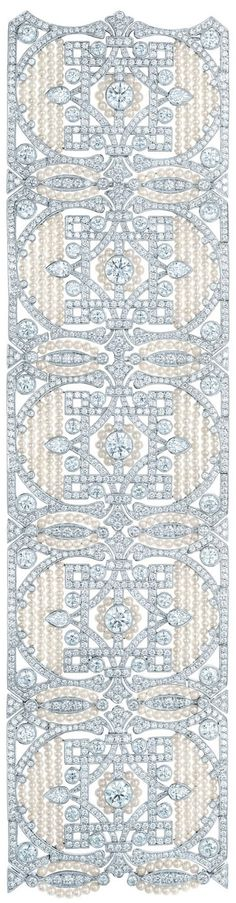 When I first looked at this, I thought it was an awesome quilt layout! Tiffany Diamond and Seed Pearl Bracelet
