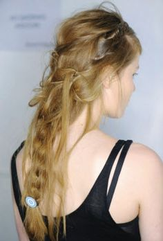 "The ""Messed up Classic"". Perfect for a care free Spring day. http://blog.gifts.com/gift-trends/spring-beauty-trend-brilliant-braids#"