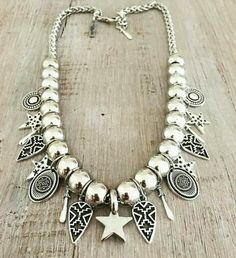 Collar Little Star Diy Earrings, Beaded Necklace, Handmade Necklaces, Handmade Jewelry, Fashion Necklace, Fashion Jewelry, Jewelry Accessories, Jewelry Design, Bohemian Jewelry