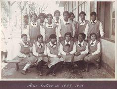 Ilda Vieira é a 4ª aluna sentada, a contar da esquerda- A decana do IO que no mes em que celebrou os 104 anos assistiu ao fecho da sua casa e despejo das meninas de odivelas
