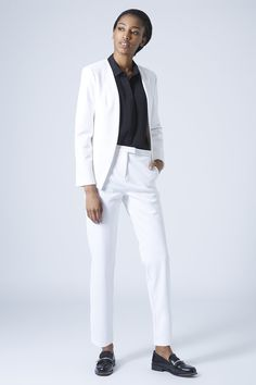 Textured Scuba Blazer and Cigarette Trousers - View All - Suits and Co-ords - Clothing- Topshop USA