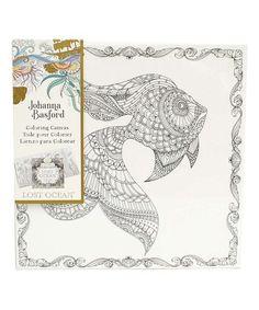 Look at this #zulilyfind! Lost Ocean Goldfish Coloring Canvas #zulilyfinds