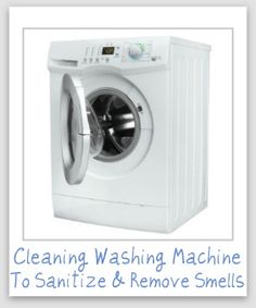 Lots of tips for cleaning your washing machine, from sanitizing it, removing hard water and soap scum build up, dealing with smells and odors and more. Household Cleaning Tips, Cleaning Recipes, House Cleaning Tips, Spring Cleaning, Cleaning Hacks, Cleaning Items, Clean Your Washing Machine, Clean Machine, Washing Machines