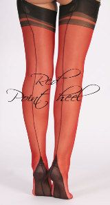 Touchable - UK shop for fully fashioned stockings, RHT, suspender belts, lingerie, delivery world-wide Fully Fashioned Stockings, Uk Shop, Red Black, Hosiery, Lace Up, Lingerie, Flats, Paris, Heels
