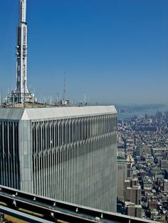 World Trade Center from the top...still, 14 years later my mind struggles to process what my eyes saw on that clear blue cloudless autumn morning. Never, never (oh God, please), never again.~ts!