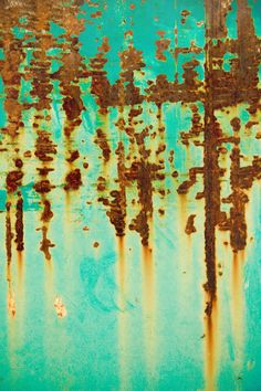 Abstract Photography Print Green Mint Rust by CatamountDigital, $40.00