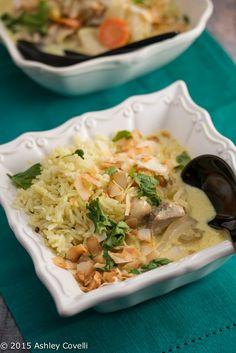 Chicken Mulligatawny Soup with Kohlrabi & Basmati Rice Recipe | Big Flavors from a Tiny Kitchen