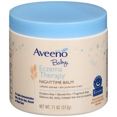 Aveeno Baby Eczema Therapy Nighttime Balm 11 Oz Pack of 2 -- Awesome product. Click the image : Baby Skin Care Anti Itch Cream, Anti Aging Cream, Baby Eczema Cream, Eczema Baby, Eczema Relief, Itch Relief, Nummular Eczema, Eczema Remedies