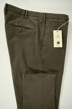 NWT ZANELLA pantalone uomo SPORTIVO cotone STRETCH grigio A/I tg. 52-56-58(IT)