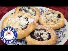 Kolache Recipe - Koláče - Czech Cookbook - Video Recipes in English - US Measurements - US Ingredients Gourmet Recipes, Mexican Food Recipes, Whole Food Recipes, Dessert Recipes, Slovak Recipes, Czech Recipes, Czech Desserts, English Food, Polish Recipes