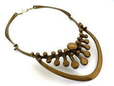 Vintage zeldzame Jack Boyd brons modernistische ketting