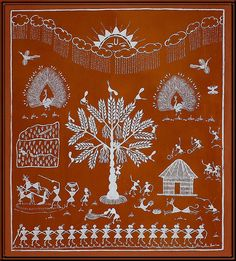 Folkart—Warli painting (Indian)