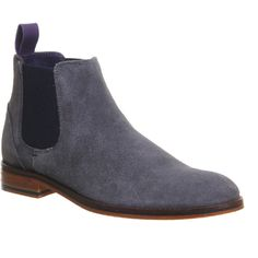 Ted Baker Camroon 4 Chelsea Boots ($215) ❤ liked on Polyvore featuring men's fashion, men's shoes, men's boots, boots, grey suede, men and shoes