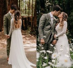 Discount Beach Bohemian Wedding Dresses Sexy Backless Long Sleeve Country Boho Bridal Gowns 2019 Custom Made Wedding Dress A Line Wedding Dresses With Lace Best Designer Wedding Dresses From Spring… Bohemian Beach Wedding Dress, Western Wedding Dresses, Sexy Wedding Dresses, Designer Wedding Dresses, Sexy Dresses, Bridal Dresses, Ivory Dresses, Wedding Dress Tea Length, Wedding Dress Chiffon