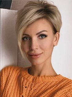 Fresh style of short blonde hair for a chic look - ., Fresh style of short blonde hair to get a chic look - Short Hairstyles For Women, Hairstyles Haircuts, Hairstyle Short, School Hairstyles, Hairstyle Ideas, Bob Haircuts, Latest Hairstyles, Vintage Hairstyles, Natural Hairstyles