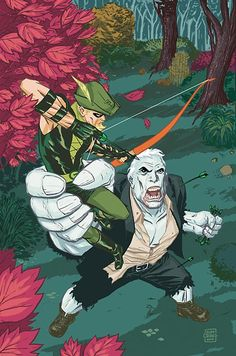 Green Arrow vs Solomon Grundy by Cliff Chiang