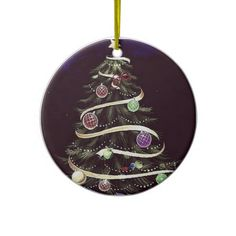 Wine eight-tree (dark blue) ornament