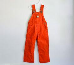 Vintage 1980s red corduroy Osh Kosh child's overalls
