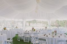 Marquee with Silk Lining www.firstclassfunctions.com.au