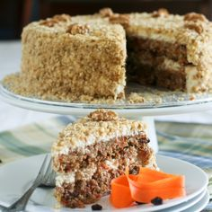 Carrot Cake and Cream Cheese Mousse