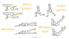 exercices elastiband fesses jambes