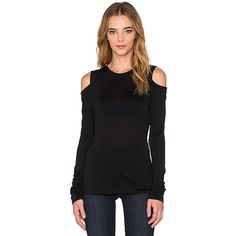 1. STATE Long Sleeve Cold Shoulder Sweater Sweaters & Knits (2,685 DOP) ❤ liked on Polyvore featuring tops, sweaters, sweaters & knits, knit tops, cut out shoulder tops, jersey sweater, knit sweater and jersey knit tops