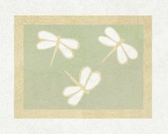 Green Dragonfly Dreams Accent Floor Rug by Sweet Jojo Designs