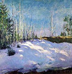 1931 Последний снег. Х., м., 70х70 ГТГ - Грабарь Игорь Эммануилович