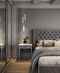 Awesome Luxury Bedroom Design Ideas You Must Have - A number of interior designers have had successes from previous designs that capture the plain white room into something that can distract an owner de. Luxury Bedroom Design, Master Bedroom Design, Interior Design, Bedroom Designs, Gray Interior, Master Suite, Modern Luxury Bedroom, Modern Bedrooms, Interior Livingroom