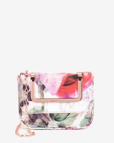 Pure peony clutch bag - Dusky Pink | Bags | Ted Baker