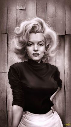 Marilyn Monroe caricature of one of my favourite pictures of her