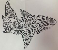 Image issue du site Web http://tatouages-polynesiens.polinesia2012.com/wp-content/uploads/2013/07/dessin-polynesien-requin-pour-tatouage-shark-tattoo-design.jpg