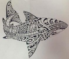 Image issue du site Web http://tatouages-polynesiens.polinesia2012.com/wp-content/uploads/2013/07/dessin-polynesien-requin-pour-tatouage-shark-tattoo-design.jpg