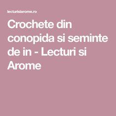 Crochete din conopida si seminte de in - Lecturi si Arome