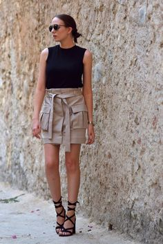 The Best Utility Style Skirt! (Shot From The Street)
