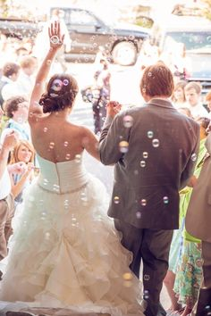 Charleston wedding wedding exit - bubbles: yes please. and bubbles should be blowing all over the wedidng reception Wedding Reception Planning, Wedding Exits, Chapel Wedding, Our Wedding, Wedding Photos, Dream Wedding, Princesa Victoria, Wedding Bubbles, Church Ceremony