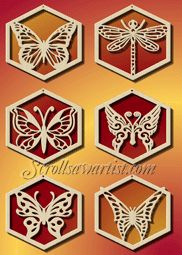 Christmas Scroll Saw Patterns | Butterfly/dragonfly ornaments